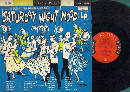 Dorsey, Jimmy, Harry James, Benny Goodman, others - Saturday Night Mood: Blue Skies, Daddy, Side By Side, They Can't Take That Away From Me (Vinyl MONO LP record, 1954 first pressing) - EX8/EX8 - LP Records