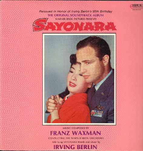 Waxman, Franz - Sayonara - Original Motion Picture Soundtrack, composed and performed by Franz Waman conducting The Warner Brothers Orchestra (vinyl STEREO LP record, re-issue) - M10/NM9 - LP Records