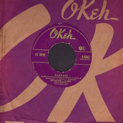 Saunders, Red & His Orchestra - Hambone/Boot 'Em Up (with RARE vintage Okeh company sleeve) - EX8/ - 45 rpm Records