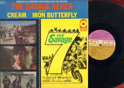 Cream, Iron Butterfly - The Savage Seven - Original Motion Picture Sound Track (Vinyl STEREO LP record) - EX8/EX8 - LP Records