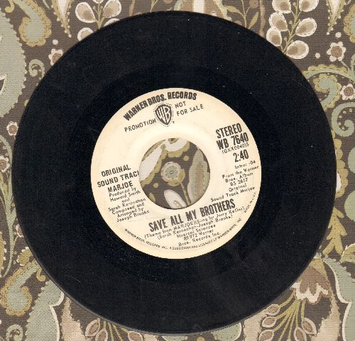 Keller, Jerry - Save All My Brothers (from film -Marjoe-) (double-A-sided DJ advance pressing) - EX8/ - 45 rpm Records