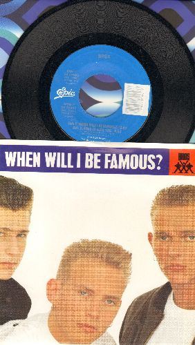 Bros - When Will I Be Famous?/Love To Hate You (with picture sleeve) - NM9/NM9 - 45 rpm Records