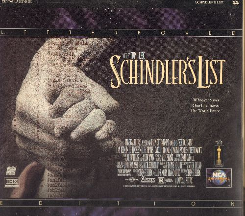 Schindler's List - Schindler's List - The Oscar Winning Spielberg Drama in Letterbox Format on 2 LASERDISCs in gate-fold cover.  - M10/NM9 - LaserDiscs