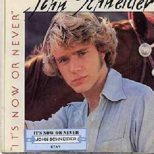 Schneider, John - It's Now Or Never (VERY PLEASANT update of the Elvis Classic)/Stay (with picture sleeve and juke box label) - NM9/EX8 - 45 rpm Records