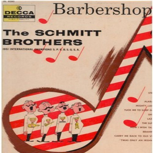 Schmitt Brothers Barbershop Quartet - Barbershop Ball: Lazy River, Brahm's Lullaby, Shine, Alabama Jubilee, Steppin' Around (Vinyl MONO LP record) - EX8/EX8 - LP Records