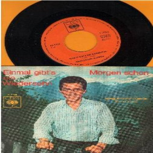 Baumler, Hans-Jurgen - Einmal gibt's ein Wiedersehn/Morgen schon (German Pressing, sung in German, with picture sleeve) - M10/EX8 - 45 rpm Records