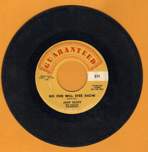 Scott, Jack - No One Will Ever Know/Go Wild Little Sadie - VG7/ - 45 rpm Records