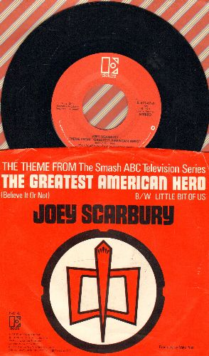 Scarbury, Joey - Theme From The Greatest American Hero/That Little Bit Of Us (with picture sleeve) - NM9/EX8 - 45 rpm Records