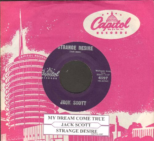 Scott, Jack - My Dream Come True/Strange Desire (with vintage Capitol company sleeve) - VG7/ - 45 rpm Records