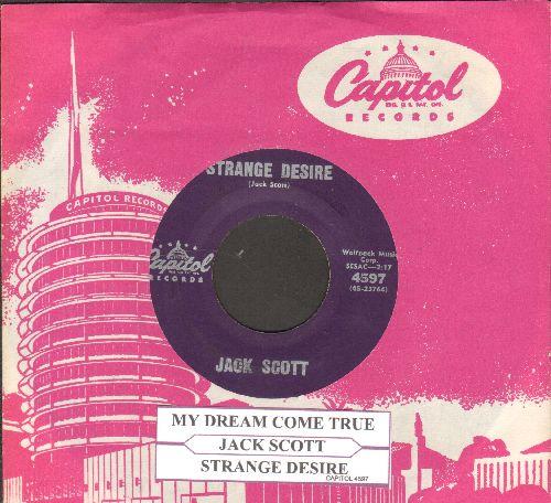 Scott, Jack - My Dream Come True/Strange Desire (with vintage Capitol company sleeve) - VG7/ - 45 rpm Records