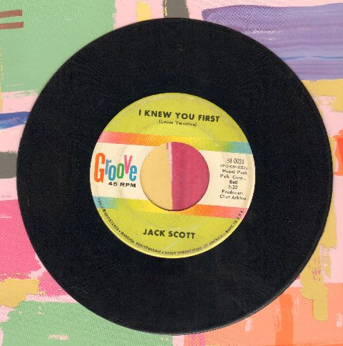 Scott, Jack - Blue Skies (Moving In On Me)/I Knew You First (RARE vintage Rock-A-Billy 2-sider!)(minor wol) - EX8/ - 45 rpm Records
