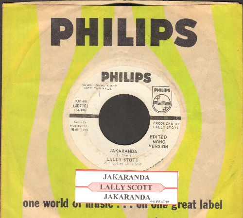 Scott, Lally - Jakaranda (double-A-sided DJ advance pressing with juke box label and Philps company sleeve) - EX8/ - 45 rpm Records