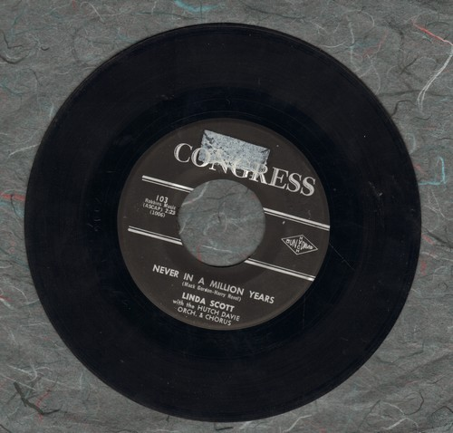 Scott, Linda - Never In A Million Years/Through The Summer - VG7/ - 45 rpm Records