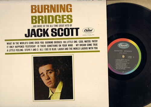 Scott, Jack - Burning Bridges: What In The World's Come Over You, Oh, Little One, My Dream Come True, Cool Water, Patsy (Vinyl MONO LP record) - EX8/VG7 - LP Records