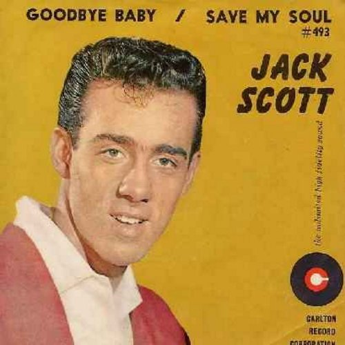 Scott, Jack - Save My Soul/Goodbye Baby (with RARE picture sleeve) - NM9/EX8 - 45 rpm Records