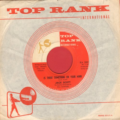 Scott, Jack - Is There Something On Your Mind/Found A Woman (MINT condition with RARE vintage Top Rank company sleeve) - M10/ - 45 rpm Records