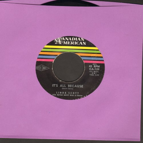 Scott, Linda - It's All Because/I Don't Know Why (MINT condition!) - M10/ - 45 rpm Records