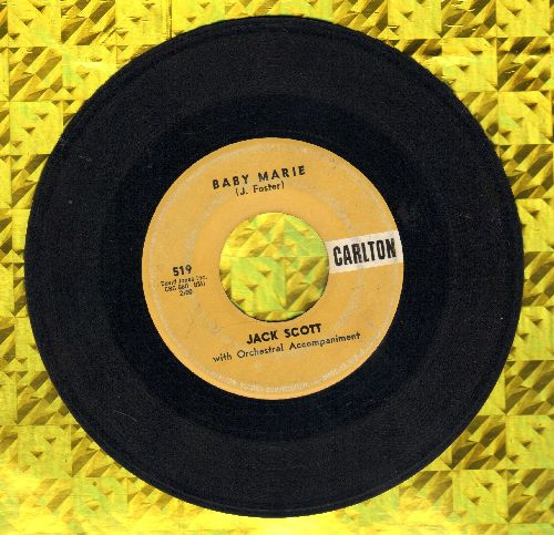 Scott, Jack - Baby Marie/There Comes A Time - EX8/ - 45 rpm Records