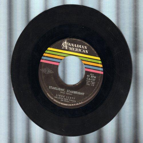Scott, Linda - Starlight, Starbright (FANTASTIC 50s GIRL-SOUD!)/Don't Bet Money Honey - EX8/ - 45 rpm Records