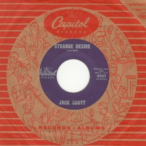 Scott, Jack - Strange Desire/My Dream Come True (with vintage Capitol company sleeve) - VG7/ - 45 rpm Records