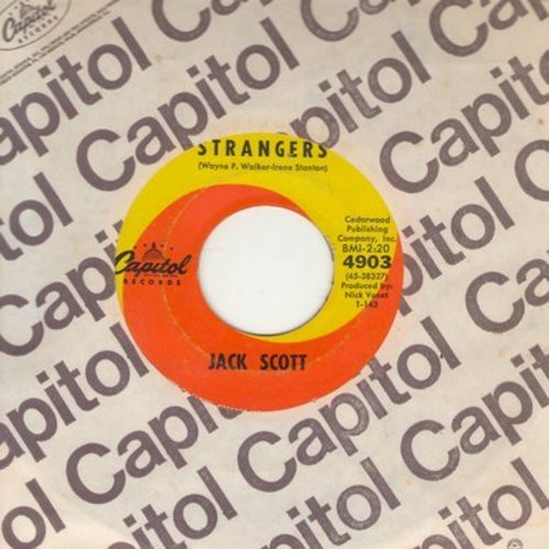 Scott, Jack - Strangers/Laugh And The World Laughs With You (with Capitol company sleeve) - VG7/ - 45 rpm Records
