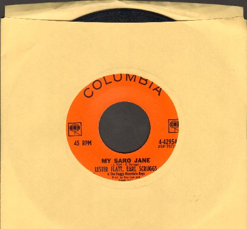 Flatt & Scruggs - My Saro Jane/You Are My Flower - EX8/ - 45 rpm Records