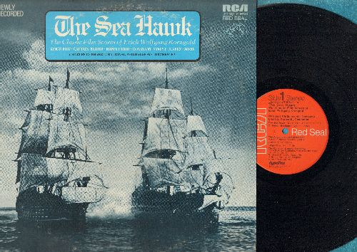 Korngold, Erich Wolfgang - The Sea Hawk - The Classic Film Scores: Robin Hood, Kings Row, Captain Blood, more! (Vinyl STEREO LP record) - NM9/EX8 - LP Records