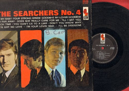 Searchers - The Searchers No. 4: Be My Baby, I'll Be Doggone, So Far Away, Each Time (vinyl STEREO LP record)(minor woc) - EX8/VG7 - LP Records