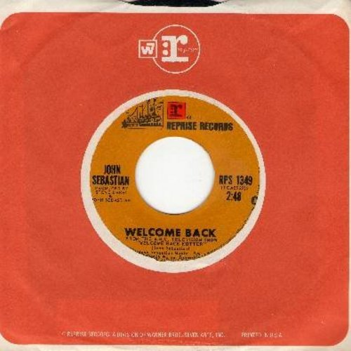Sebastian, John - Welcome Back Kotter/Warm Baby (with juke box label) - NM9/ - 45 rpm Records