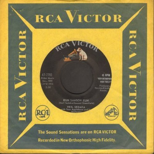 Sedaka, Neil - Run Samson Run/You Mean Everthing To Me (with RCA company sleeve) - NM9/ - 45 rpm Records