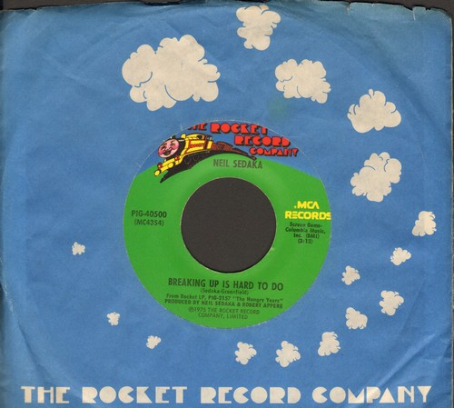 Sedaka, Neil - Breaking Up Is Hard To Do/Nana's Song (with company sleeve) - EX8/ - 45 rpm Records