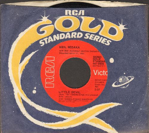 Sedaka, Neil - Little Devil/Stairway To Heaven (double-hit re-issue with company sleeve) - NM9/ - 45 rpm Records
