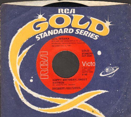 Sedaka, Neil - Happy Birthday, Sweet Sixteen/The Diary (early re-issue with company sleeve) - NM9/ - 45 rpm Records
