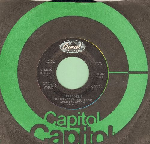 Seger, Bob & The Silver Bullet Band - American Storm/Fortunate Son (with Capitol company sleeve) - NM9/ - 45 rpm Records