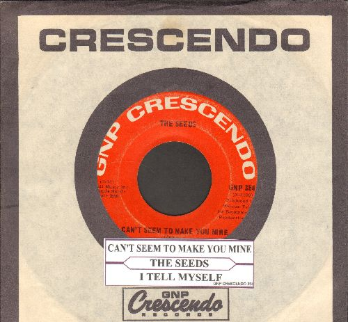 Seeds - Can't Seem To Make You Mine/I Tell Myself (with Crescendo company sleeve and juke box label) - VG7/ - 45 rpm Records