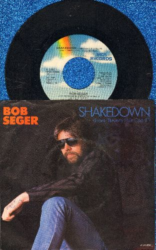 Seger, Bob - Shakedown (from film -Beverly Hills Cop II-)/The Aftermath (with picture sleeve and juke box label) - EX8/VG7 - 45 rpm Records