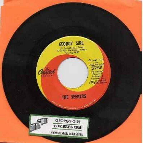 Seekers - Georgy Girl (Hey There Georgy Girl!)/When The Stars Begin To Fall (from film 'Georgy Girl') (with juke box label) - EX8/ - 45 rpm Records
