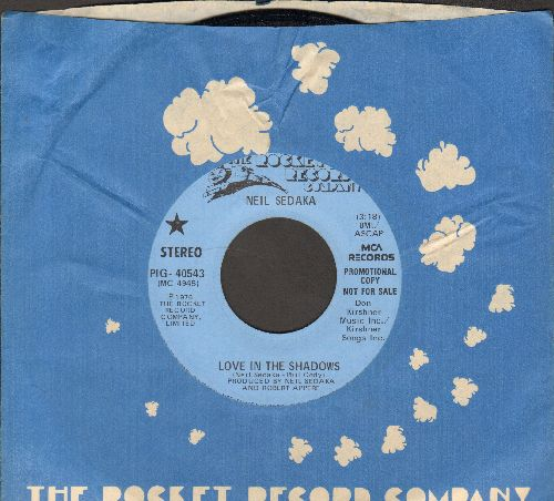 Sedaka, Neil - Love In The Shadows (double-A-sided DJ advance pressing with Rocket company sleeve) - NM9/ - 45 rpm Records
