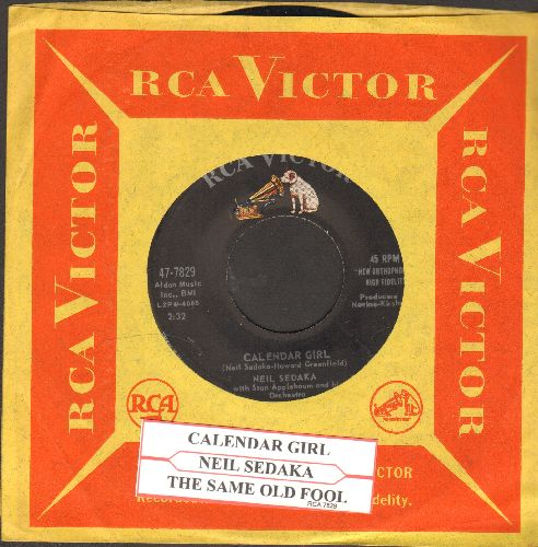 Sedaka, Neil - Calendar Girl/The Same Old Fool (with vintage RCA company sleeve and juke box label) - NM9/ - 45 rpm Records