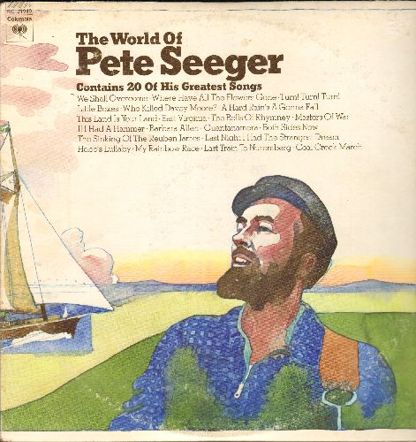 Seeger, Pete - The World Of Pete Seeger - 20 Of His Greatest Songs: We Shall Overcome, Where Have All The Flowers Gone, Both Sides Now, If I Had A Hammer, Gunatanamera (2 vinyl STEREO LP records, gate-fold cover) - EX8/EX8 - LP Records