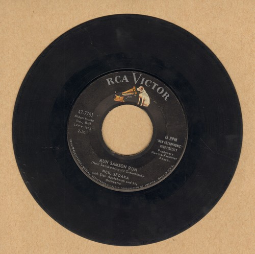 Sedaka, Neil - Run Samson Run/You Mean Everthing To Me - VG7/ - 45 rpm Records