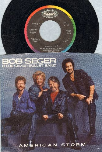 Seger, Bob & The Silver Bullet Band - American Storm/Fortunate Son (with picture sleeve) - EX8/EX8 - 45 rpm Records