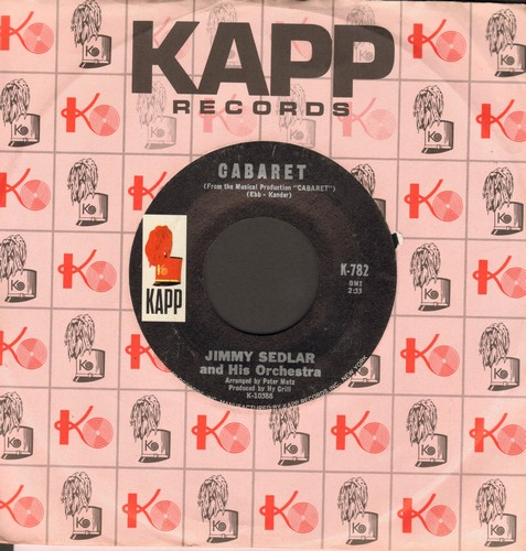 Sedlar, Jimmy & His Orchestra - Cabaret/My Moonlight Madonna (with vintage Kapp company sleeve) - M10/ - 45 rpm Records