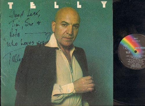 Savalas, Telly - Telly: If, You've Lost That Lovin' Feelin', Something, Without Her (Vinyl LP record, with PERSONALIZED AUTOGRAPH on cover!) - EX8/VG7 - LP Records