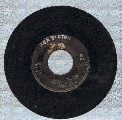 Sedaka, Neil - Let's Go Steady Again/Waiting For Never (La Terza Luna) (wol) - VG7/ - 45 rpm Records