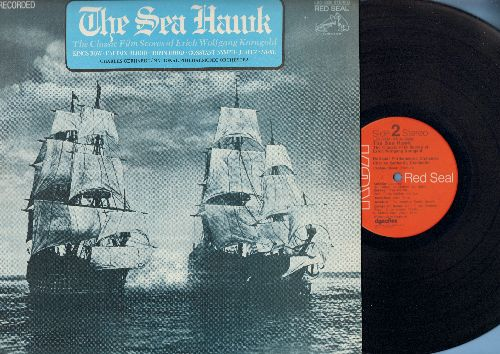 Gerhardt, Charles conducting National Philharmonic Orchestra - The Sea Hawk - The Classic Film Scores of Erich Wolfgang Korngold: Kings Row/Captain Blood/Robin Hood more! (Vinyl STEREO LP record, Red Seal Pressing) - NM9/NM9 - LP Records