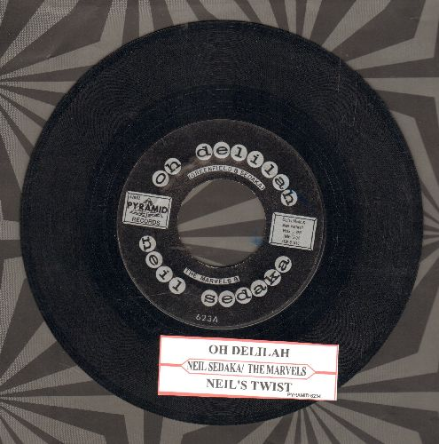 Sedaka, Neil - Oh Delilah/Neil's Twist (with juke box label) - EX8/ - 45 rpm Records