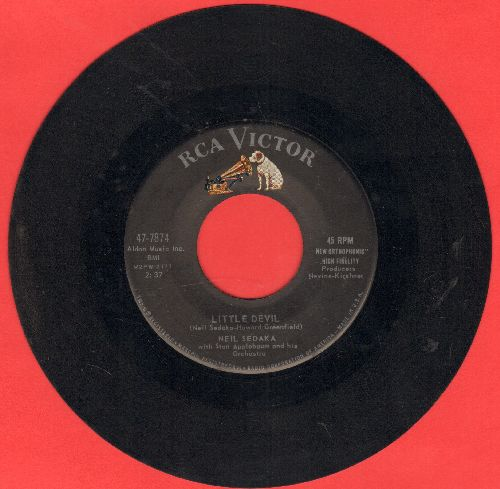 Sedaka, Neil - Little Devil/I Must Be Dreaming  - EX8/ - 45 rpm Records