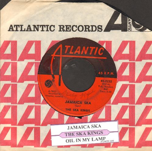 Ska Kings - Jamaica Ska/Oil In My Lamp (with juke box label and Atlantic company sleeve) - VG7/ - 45 rpm Records