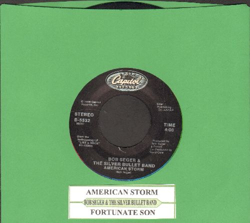 Seger, Bob & The Silver Bullet Band - American Storm/Fortunate Son (with juke box label) - NM9/ - 45 rpm Records